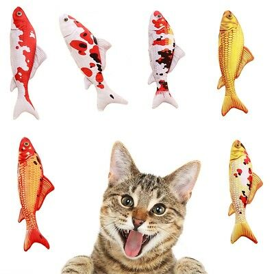 Simulation Fish Plush Toy Chewing Pillow Toys Stuffed Mint Pet Kitten Catnip Pet