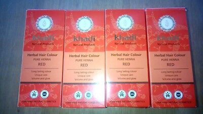 Coloration végétale KHADI rouge lot de 4