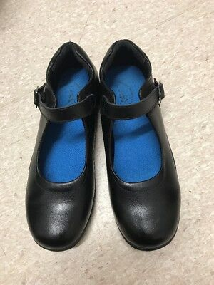 Black Leather Mary Jane Shoes Size 8 By Lynx