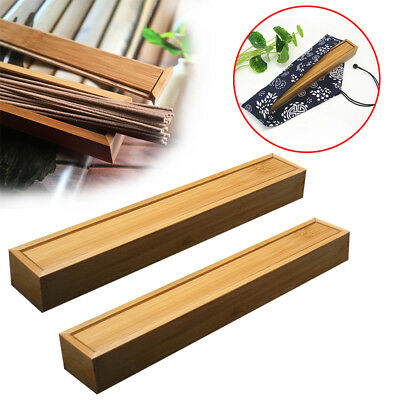 Handmade Bamboo Incense Holder Portable Burner Joss Box Stick Holder Aroma Box