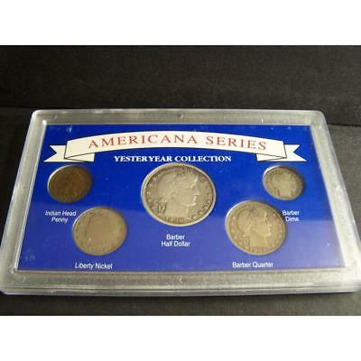 Americana Series Yesteryear Collection 5-Coin Set. Lot 243