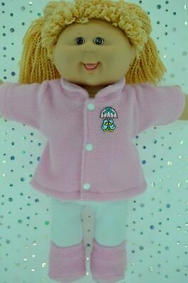 """Play n Wear Doll Clothes For 16"""" Cabbage Patch PINK JACKET~TIGHTS~BOOTIES"""