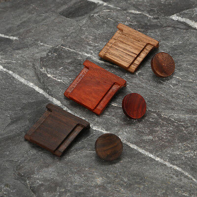 Black Walnut Wooden Wood Shutter Button +Camera Hot Shoe Cover For Fuji X-Series