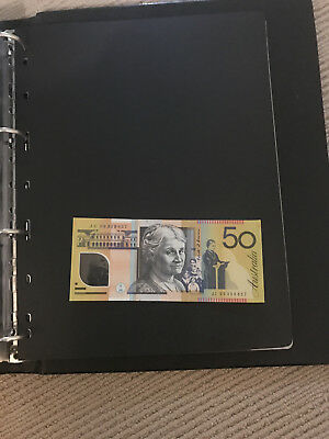 Australia 2009 $50 Error Note Missing Stars -  Fifty Dollars RARE