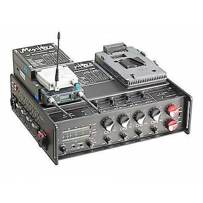 Mystere´ portable Audioswitcher Stereo Broadcast 4/2/2+V-mount+AUX-Return-Cable