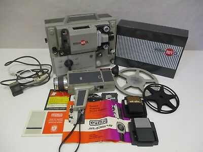 EUMIG Super 8 Mark DL Projector / EUMIG Movie Camera for 50ft Cartridges **