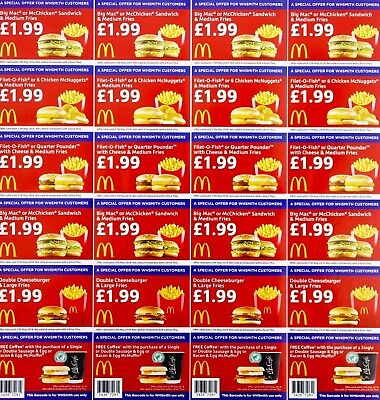 Mcdonalds Promotion 8 Strips Of 6 Vouchers Whsmith Valid Until 27Th May 2018