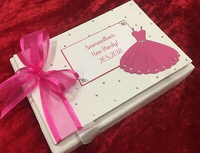 Personalised Birthday Guest Book Photo Album Memory Book any age Boxed Luxury
