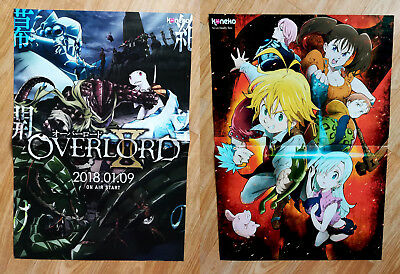 Overlord, Seven Deadly Sins, Anime Poster