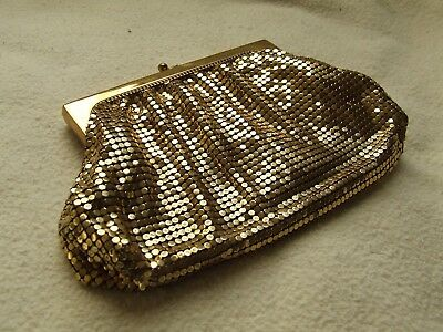Beautiful Vibrant Vintage Whiting & Davis Co. Gold Mesh Purse
