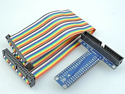 [Sintron] 40 Pin GPIO Extension Board with 40 Pin Rainbow Color Ribbon Cable for