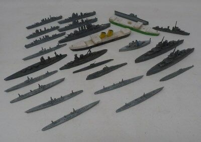 Vintage Lot Of Assorted Metal Plastic & Wooden Toy Ships - Large Mixed Bundle *