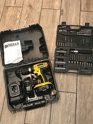DeWalt Rechargeable Cordless Drill Set Power Tool with Drill Bits
