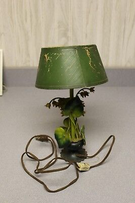12 Inch Tall Metal FLOWERs TABLE LAMP