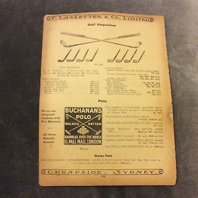 Antique Catalogue Page - Golf, Fencing, Boxing Requisites