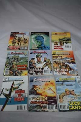 Bundle COMMANDO Comics Magazines Picture books x9  Job Lot