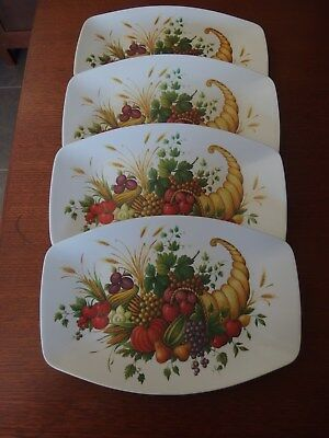 "4 "" HOLLYWOOD FORMALINE "" PLATES ( like bessemer ) BBQ/CAMPING/OUTDOOR/CARAVAN"