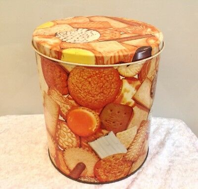 Vintage Willow Assorted Biscuit Tin Kitchenalia