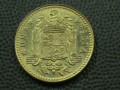 SPAIN 1 Peseta  1980 TYPE 1 UNCIRCULATED  DATE IN STARS  $ 2.99 maximum shipping