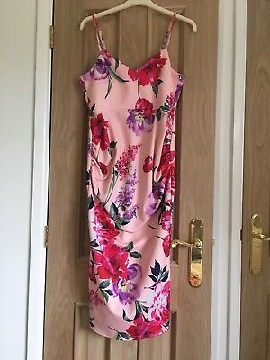 Size 10 Maternity wedding/party pink floral dress