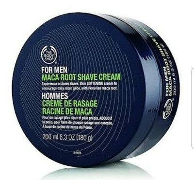 Body Shop For Men Maca Root Shave Cream 200ml FREE POST