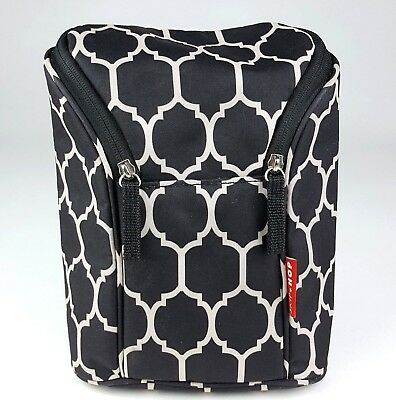 Skip Hop Grab-and-Go Insulated Double Bottle Bag Onyx Tile