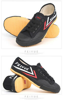 Dafu Feiyue Wushu Training Shoes Black Martial Arts Kung Fu Slippers Trainers
