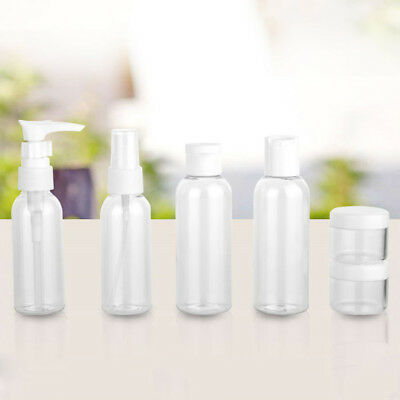 FX- 6Pcs 20/50/80ml Portable Clear Travel Cosmetic Bottle Points Bottling Set No