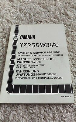 1990 Yamaha YZ250WR (A) Disassembly/Reassembly Shop Service Repair Manual OEM