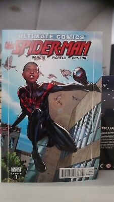 Ultimate All-New Spiderman #1 Unmasked Pichelli Variant Rare Miles Morales