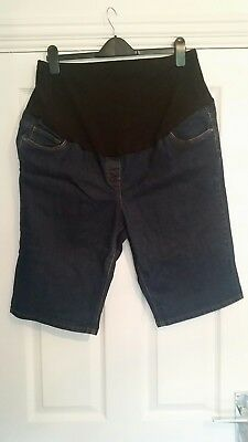 George @ Asda Size 18 maternity Denim Shorts over bump