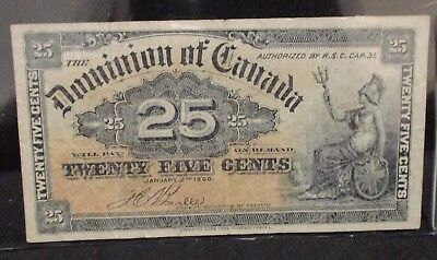 Dominion of Canada 1900 Twenty Five Cents Bank Note                 ENN COINS