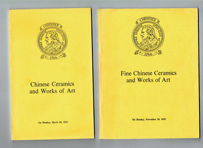 2 x CHINESE CERAMICS and WORKS OF ART. Christie's. 1972 &1973