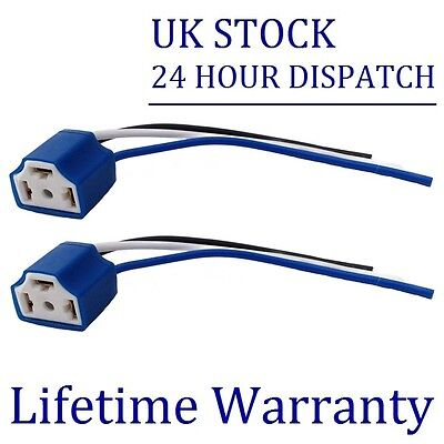 2X FOR NISSAN MICRA NOTE H4 CERAMIC BULB HOLDER UPGRADE 100W+ -BH4x2