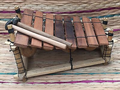 Genuine African Wooden 8 Key Xylophone - Fair Trade from Ghana