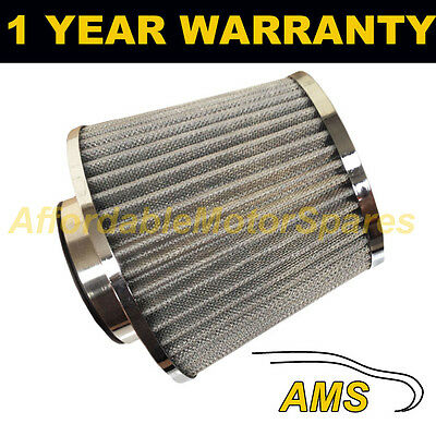 SILVER UNIVERSAL SPORTS UPGRADE AIR FILTER WITH ADAPTORS 60mm 65mm 70mm