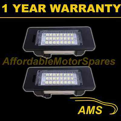 2X FOR BMW 1 SERIES E82 E88 X1 E84 2004 On 24 WHITE LED NUMBER PLATE LIGHT LAMPS