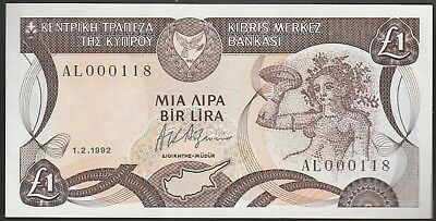 L48 CYPRUS 1 pound 1.2.1992 w/ low serial number, UNC