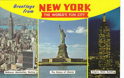 USA Greetings from New York City Mehrbild Times Square Worlds Fun City