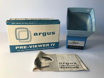 Vintage Argus Pre-Viewer IV Slide Viewer for 35mm and 127 Size Slides