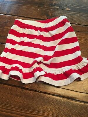 Blanks Boutique Red White Stripe Ruffle Shorts 3t