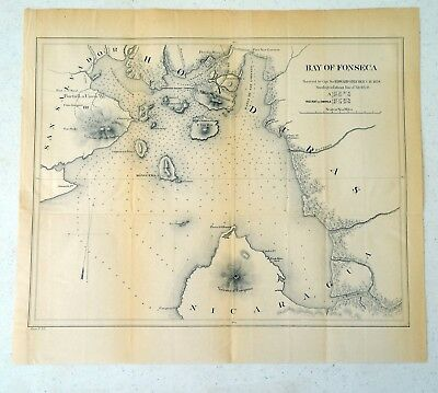Antique Map of the Bay of Fonseca