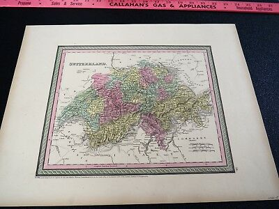 Map of Switzerland Published by Thomas Cowperthwait & Co, 1850