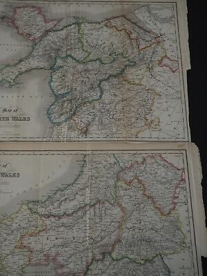 Maps of North Wales and South Wales, Roscoe'e Wandering's & Excursions, 1860