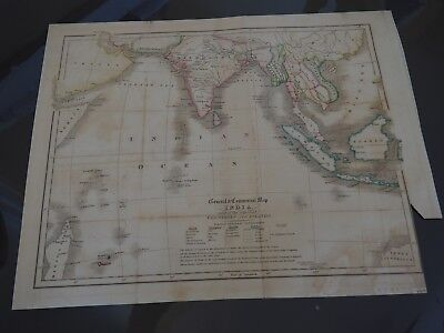 General & Commercial Map of India and of the Adjacent Countries and Islands