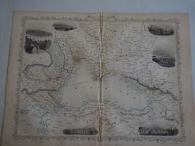 Map of Black Sea, 1851 John Tallis-Decorative and Detailed