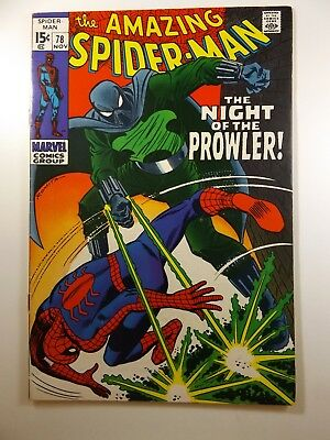 """The Amazing Spiderman #78 """"The Night of the Prowler!"""" Fine/Fine+ Condition!"""
