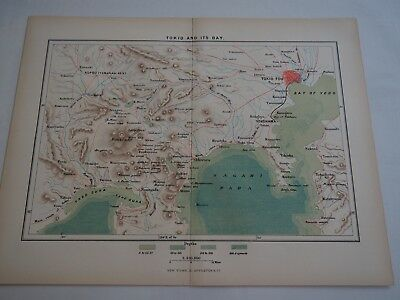 Map of Tokio and Its Bay, D Appleton New York