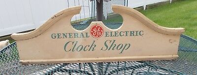 Vintage Advertising General Electric Clock Shop Sign / Store Display