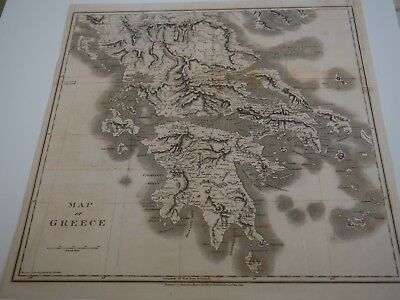 Map of Greece, A Classic and Topographical Tour Through Greece, During 1801-06
